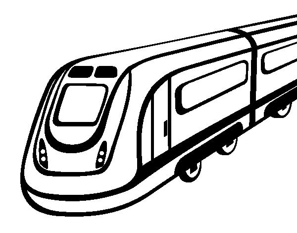 Dibujo de Tren de alta velocidad para Colorear - Dibujos.net