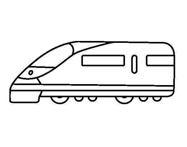 Dibujo De Tren Rápido Para Colorear Dibujosnet