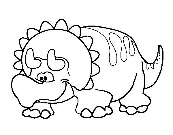 Dibujo de Triceratop bebé para Colorear - Dibujos.net