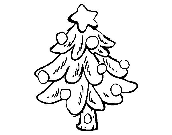 Dibujo de Un árbol Navidad para Colorear - Dibujos.net