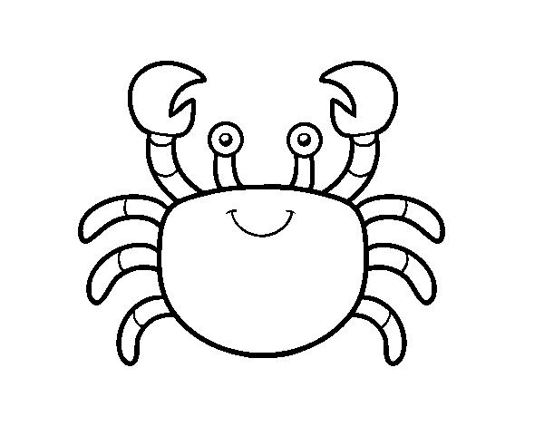 Dibujo De Un Cangrejo De Mar Para Colorear Dibujosnet