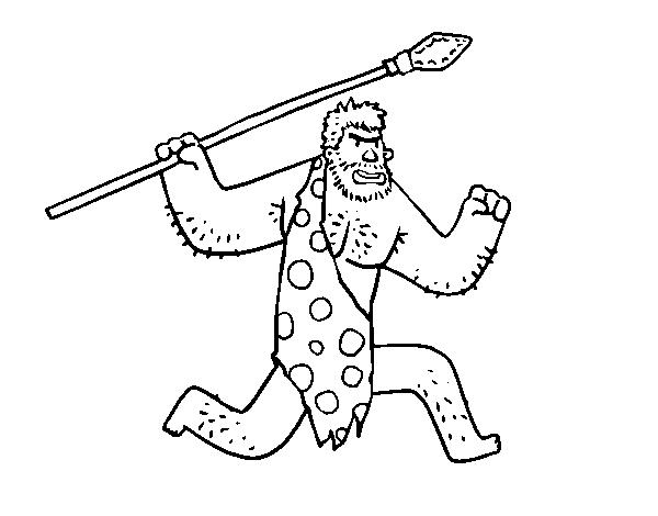 Dibujo De Un Cavernícola Para Colorear Dibujosnet