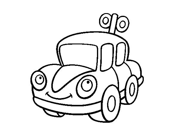 Dibujo de Un coche de juguete para Colorear - Dibujos.net