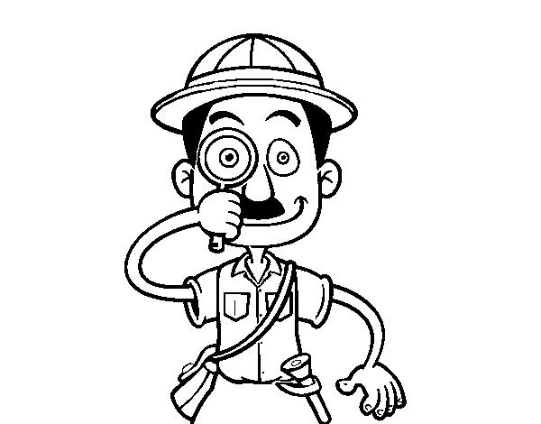 Dibujo de Un explorador para Colorear   Dibujos.net