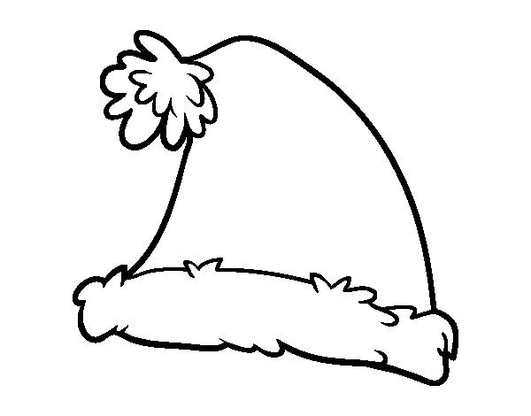 Dibujo De Un Gorro De Santa Claus Para Colorear Dibujosnet