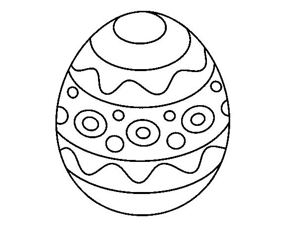 Dibujo de Un huevo de Pascua estampado para Colorear - Dibujos.net
