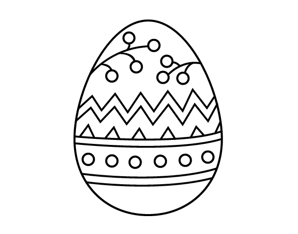 Dibujo de Un huevo de Pascua para Colorear - Dibujos.net