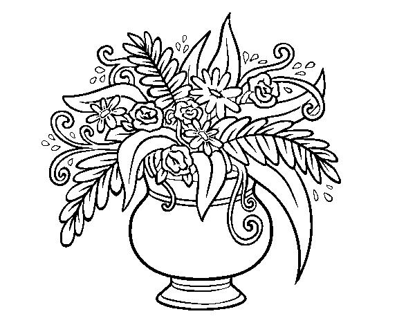 Imagenes De Jarrones Con Flores Para Iluminar Dibujos Para Colorear