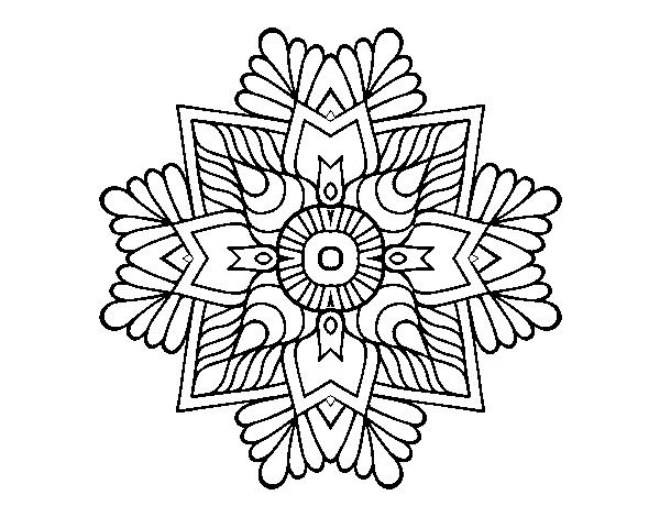 Dibujo de Un mandala mosaico para Colorear - Dibujos.net