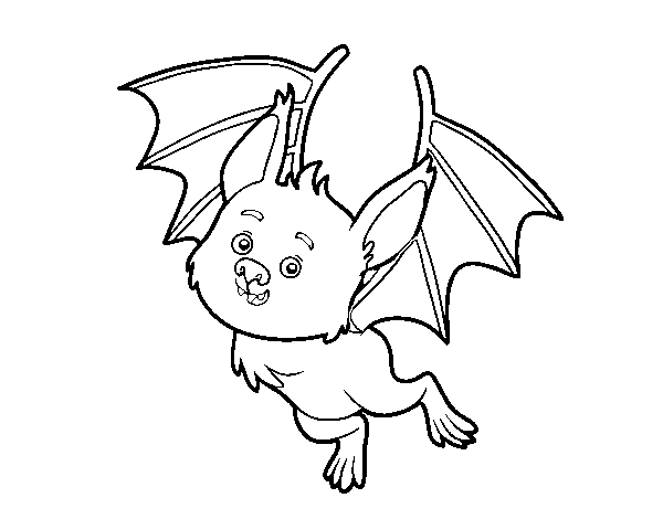 Dibujo de Un murciélago simpático para Colorear   Dibujos.net