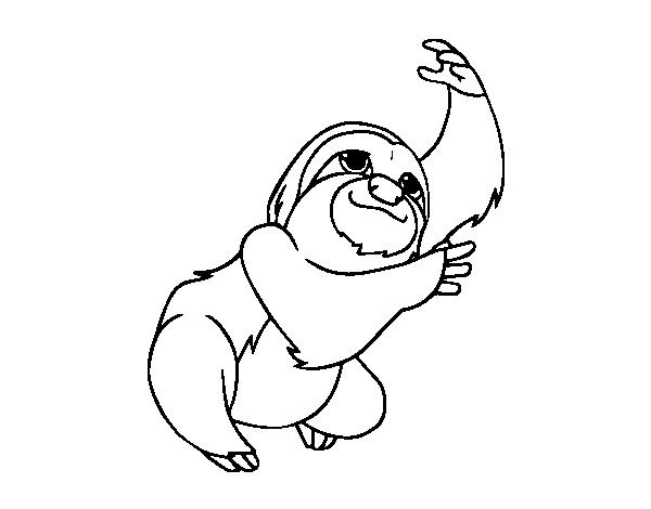 Dibujo de Un perezoso para Colorear - Dibujos.net