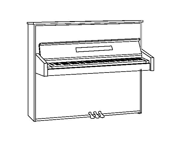 Dibujo De Un Piano De Pared Para Colorear Dibujosnet