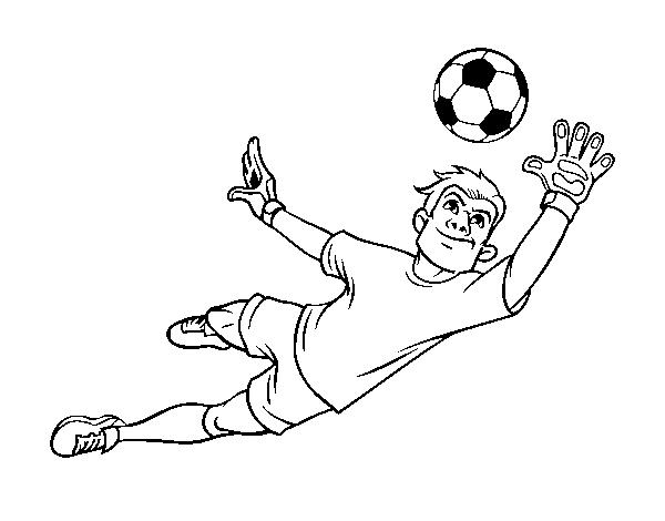 Dibujo de Un portero de fútbol para Colorear - Dibujos.net