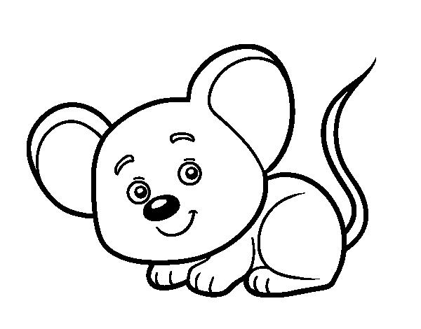 Dibujo De Un Ratoncito Para Colorear Dibujosnet