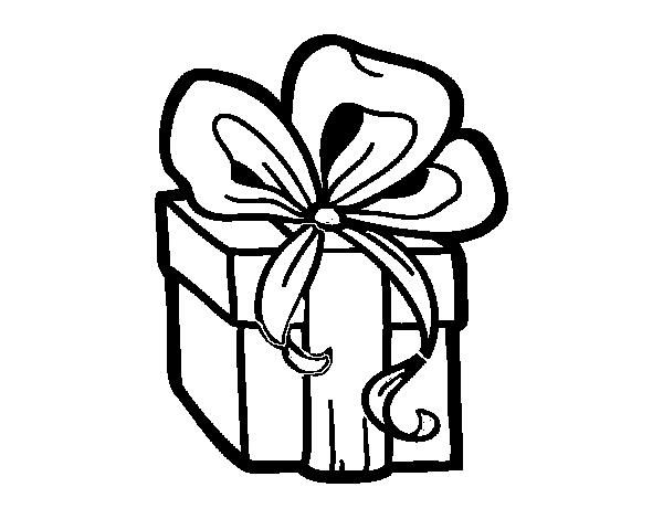 Dibujo de Un regalo de Navidad para Colorear - Dibujos.net