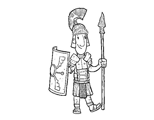 Dibujo de Un soldado romano para Colorear - Dibujos.net