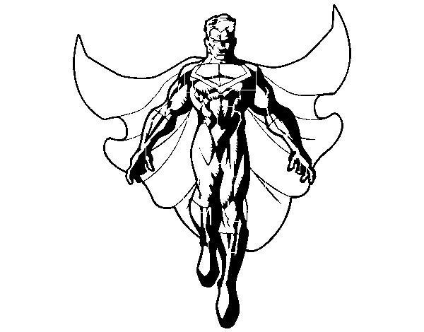 Dibujo De Un Super Héroe Volando Para Colorear Dibujosnet