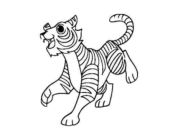 Dibujo De Un Tigre De Bengala Para Colorear Dibujosnet