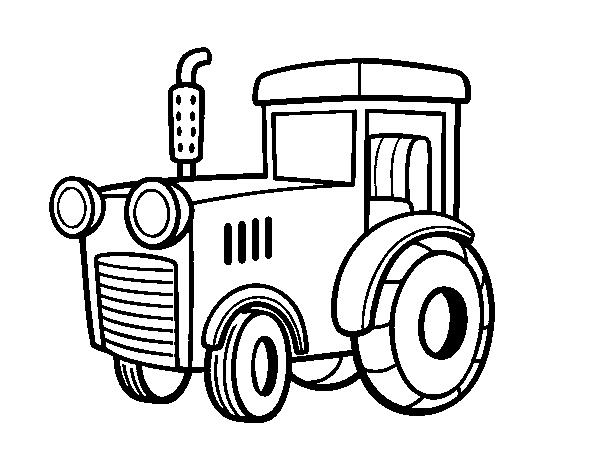Dibujos De Tractores Para Imprimir Y Colorear: Dibujo De Un Tractor Para Colorear