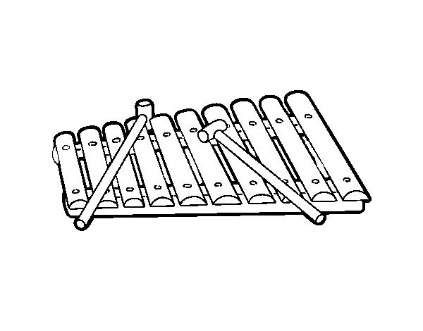 Dibujo De Un Xilófono Para Colorear Dibujosnet