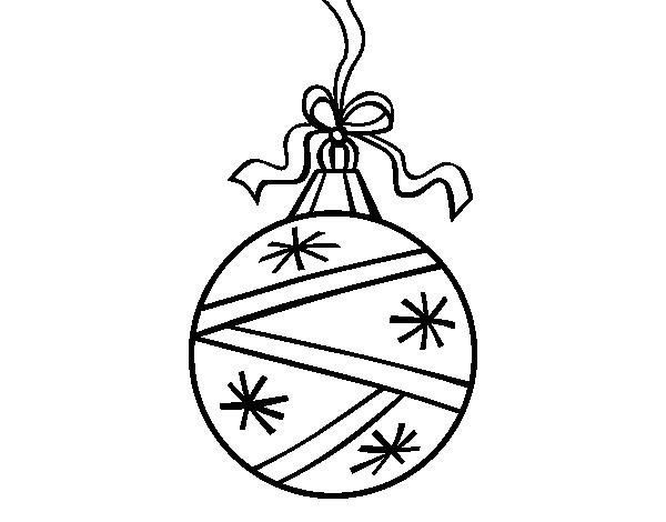 Dibujo De Una Bola De Navidad Para Colorear Dibujos Net