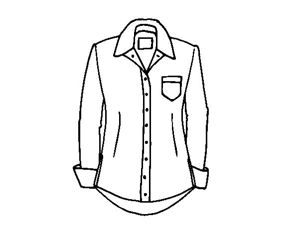 Dibujo de Una camisa para Colorear   Dibujos.net
