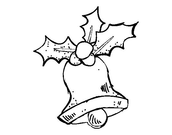 Dibujo de Una campana de Navidad para Colorear - Dibujos.net