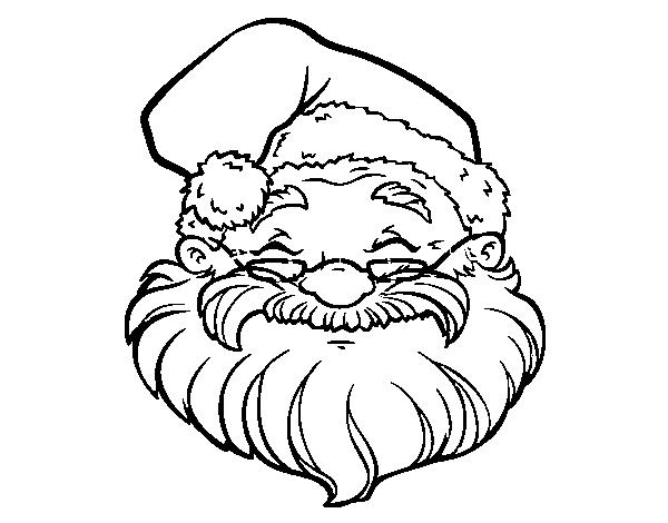 Sus Dibujos Favoritos De Disney Y Píxar Ahora Se Pueden Pintar: Dibujo De Una Cara De Papá Noel Para Colorear