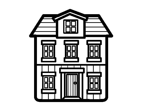 Dibujo de Una casa para Colorear - Dibujos.net