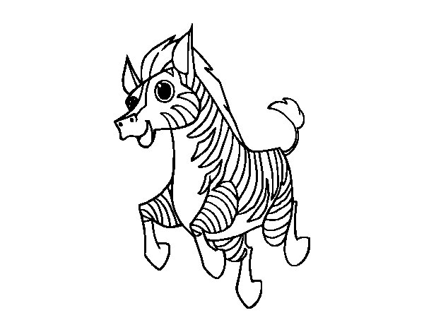 Dibujo de Una cebra para Colorear - Dibujos.net