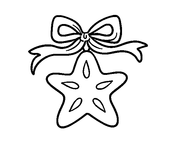 Estrella navidena para dibujar