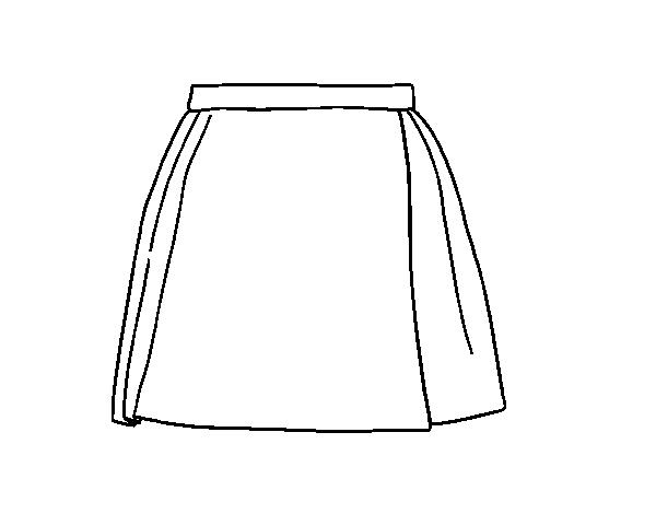 Dibujo De Una Falda Para Colorear Dibujosnet