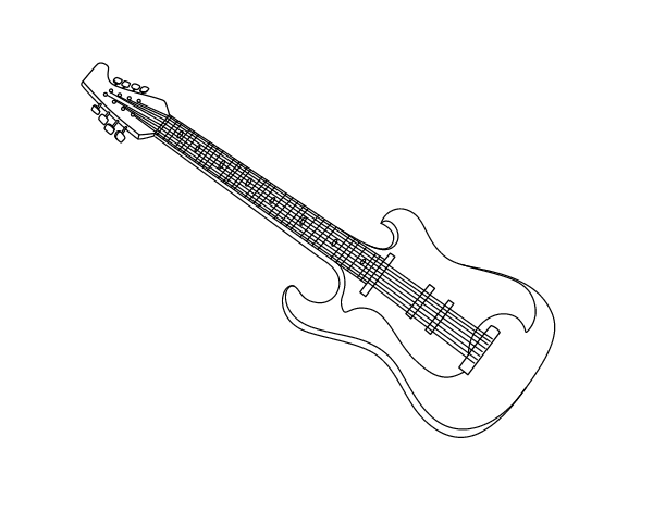 Dibujo De Una Guitarra Eléctrica Para Colorear Dibujosnet