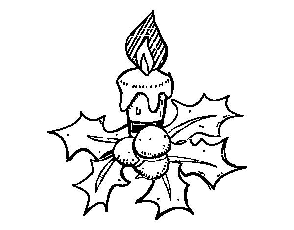 Dibujo vela navidad