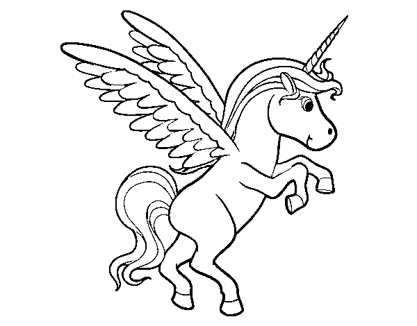 Dibujo De Unicornio Joven Para Colorear Dibujosnet