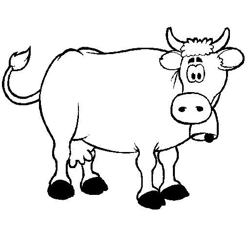 Dibujo de Vaca lechera para Colorear - Dibujos.net