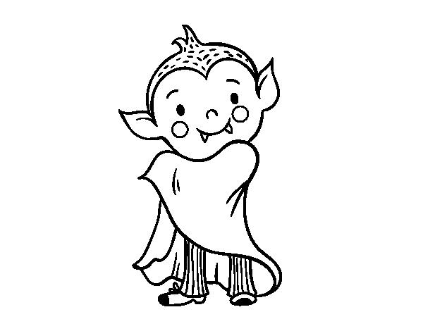 Dibujo De Vampiro De Halloween Para Colorear Dibujosnet
