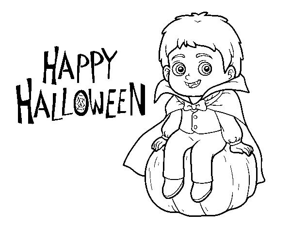 Dibujo De Vampiro Para Halloween Para Colorear Dibujosnet
