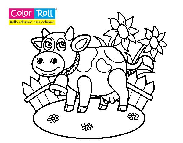 Dibujo De Vaquita Color Roll Para Colorear Dibujosnet