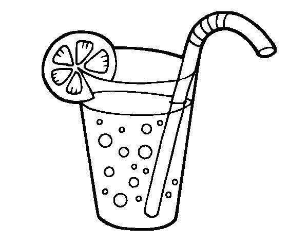 Dibujo De Bebida Para Colorear