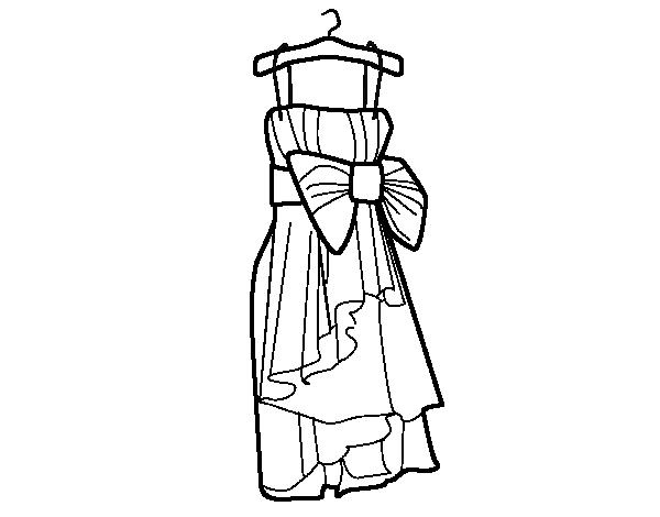 Dibujo De Vestido De Fiesta Para Colorear Dibujos Net