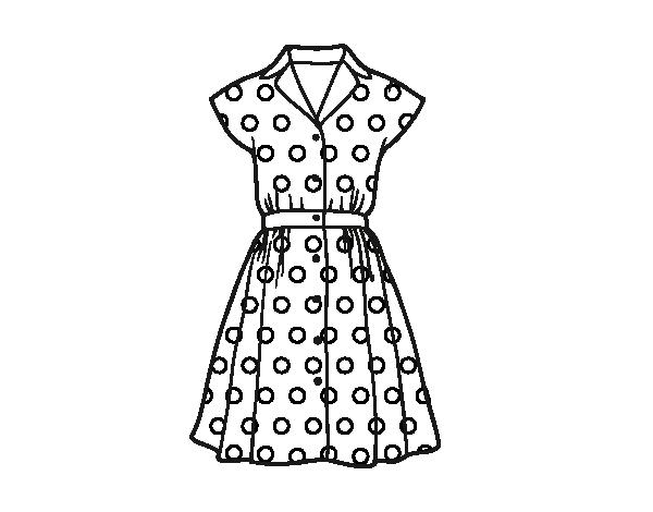 Dibujo De Vestido Pinup Para Colorear Dibujosnet