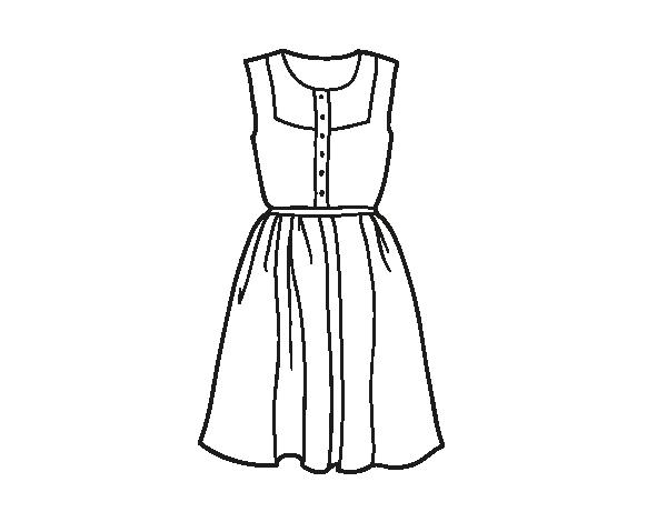 Dibujo De Vestido Veraniego Para Colorear Dibujosnet