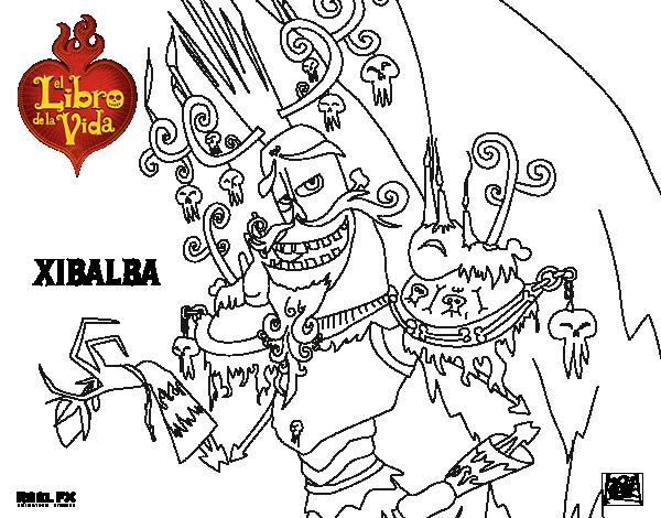 Dibujo de Xibalba para Colorear - Dibujos.net