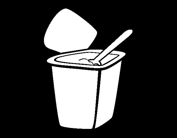 Dibujo De Yogur Natural Para Colorear Dibujosnet
