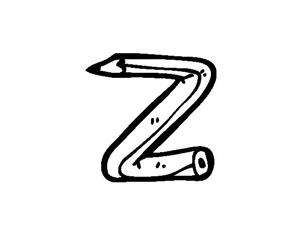 Dibujo de Z minúscula para Colorear - Dibujos.net