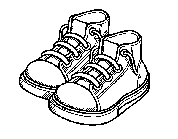 Dibujo De Zapatillas De Niño Para Colorear Dibujosnet