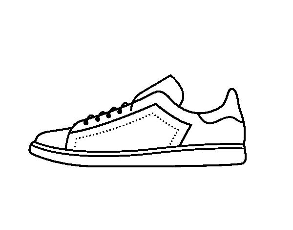 Dibujo de Zapatillas deportivas para Colorear - Dibujos.net