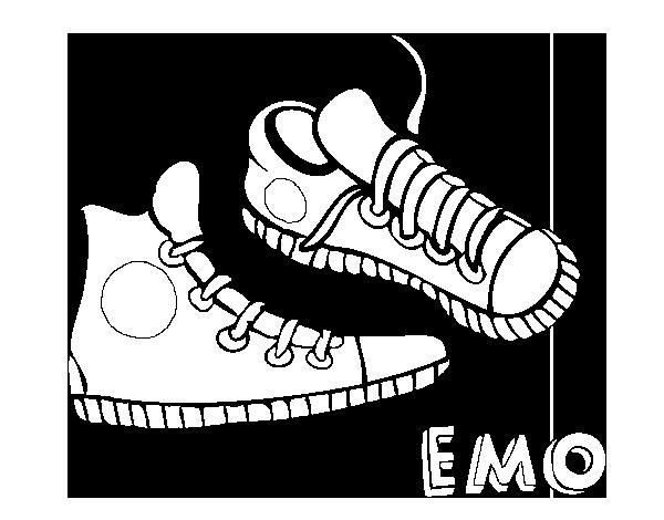 Dibujo De Zapatillas Para Colorear Dibujos Net