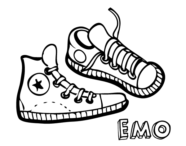 Zapatillas Dibujo Dibujo Para Colorear De De C3q4ajl5r